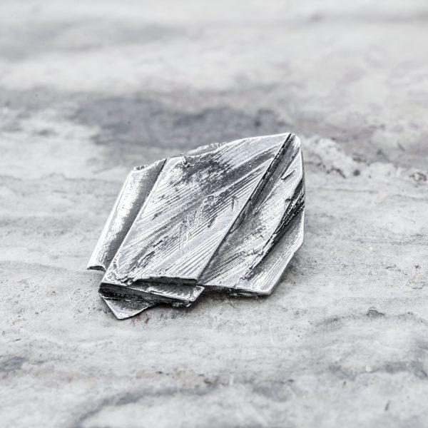 Pendente Strato Materia Argento