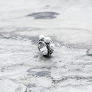 Anello Fascia Rhode Perle Argento 2